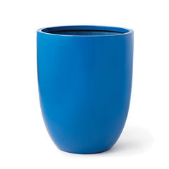Bold, blue vase-shaped planter from the Civilian product line.