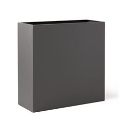Gray, rectangle tall planter from the Planters Perfect product line.